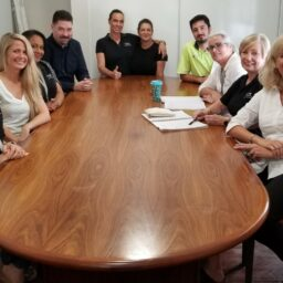 Boardroom table gets the perfect new home!