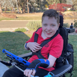 Meeting up with Sebastian, the tech whizz kid!